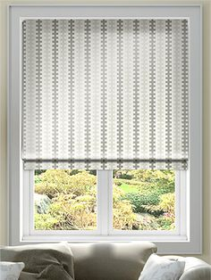 Hounds Tooth Faux Silk Neutral Roman Blind from Blinds 2go