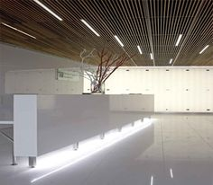 Like the ceiling Reception Desk Creative and interesting idea Design and Specify, office design, Leeds, Yorkshire,