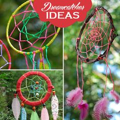 10 Ideas for Making Beautiful Dreamcatchers. Could have all the materials together and have the kids make them on Thanksgiving. Diy Projects To Try, Crafts To Do, Crafts For Kids, Craft Projects, Arts And Crafts, Craft Ideas, Camping Crafts, Craft Activities, Creative