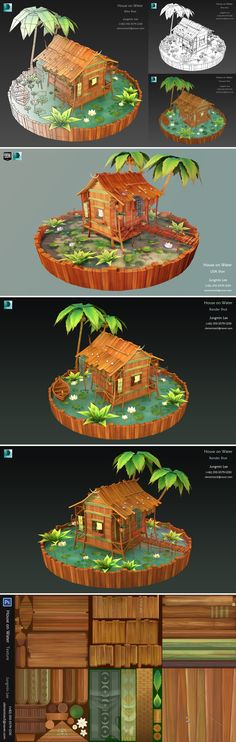 My Portfolio, House on Water.  I'm currently looking for a 3D modeling job.  Thank you.