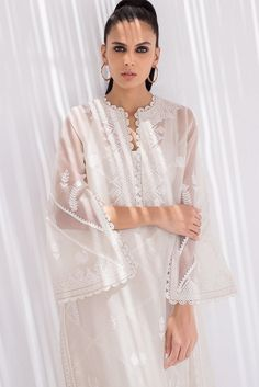 Sania Maskatiya – Women Fashion Brand. Embroidered organza kurta