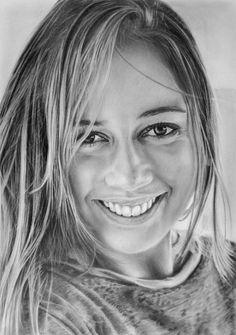 """My"" - LateStarter63, graphite on Bristol board {contemporary figurative art beautiful female head young woman face portrait drawing}"