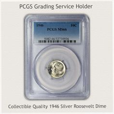 Mint State Silver Roosevelt Dime in a PCGS Grading Service Holder Rare Coin Values, Silver Value, Penny Values, Old Coins Value, Rare Pennies, Old Coins Worth Money, Valuable Coins, Silver Dimes, Coin Worth