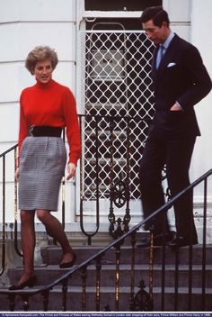 January 15, 1990: Prince Charles & Princess Diana  taking Prince William & Prince Harry to school.