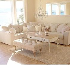 Secret Facts About Minimalist White Winter Room Ideas - walmartbytes Living Room Style, Cream Living Rooms, Cozy Living Rooms, Living Room Designs, Home Living Room, Coastal Living Rooms, Elegant Living Room, House Interior, Room Decor