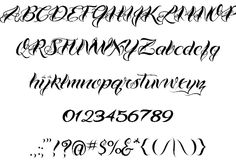 Calligraphy Tattoo Fonts | ... professional tattooing and the ...