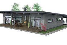 Casa sencilla estilo country y moderna de 3 dormitorios
