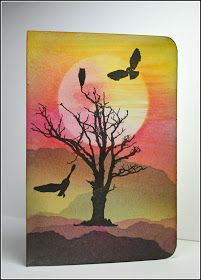 Eileen's Crafty Zone: Rochester Workshops May 2018 Visible Image - The Samples Lavinia Stamps, Image Stamp, Bare Tree, Fall Cards, Card Tags, Dusk, Workshop, Owl, Scene