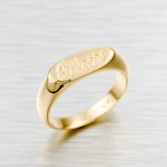 Custom Made Name 24k Gold Plated Personalized Ring, Band, Jewlery, Personal…
