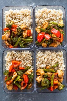 Sweet Chili Chicken & Veggies Chicken and veggies coated with a sticky sweet chili garlic glaze and baked on a sheet pan. This healthy takeChicken and veggies coated with a sticky sweet chili garlic glaze and baked on a sheet pan. This healthy take Sweet Chili Chicken, Chicken Meal Prep, Sweet Chilli, Healthy Chicken, Baked Chicken, Chicken Rice, Lunch Meal Prep, Meal Prep Bowls, Veggie Meal Prep
