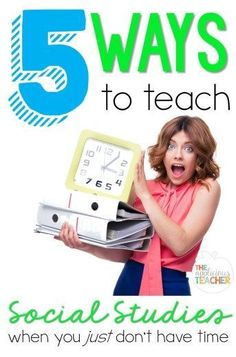 5 Ways to Teach Social Studies when you just don't have time!  I know I can't be the only one who struggled with making Social Studies a part of our everyday routine! So, here are some favorite ways to get Social Studies in when you just don't have time!  Read more at:  http://theappliciousteacher.com/5-ways-teach-social-studies-dont-time/