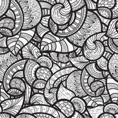 modèle sans couture doodle ethnique Vector — Illustration #7213165