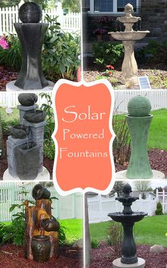 Solar fountains solar birdbaths offer a cord free way to power an outdoor fountain Serenity Health will provide a great addition to your garden Small Fountains, Garden Fountains, Water Fountains, Outdoor Fountains, Solar Outdoor Fountain, Backyard Water Feature, Ponds Backyard, Backyard Waterfalls, Garden Ponds