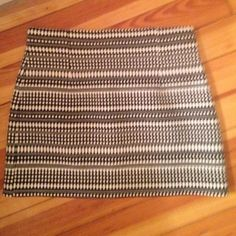 Zara tweed mini skirt Zara black and white Aztec patterned mini skirt Zara Skirts Mini