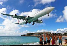 Air France F-GNII aircraft at St. Maarten, Princess Juliana Int.