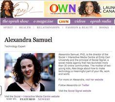 Profile on Oprah.com