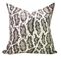 This listing is for one Gattopardo Siberiano pillow cover.   DESCRIPTION Designer: Peter Dunham Textiles Colors: Taupe, charcoal, ivory   DETAILS