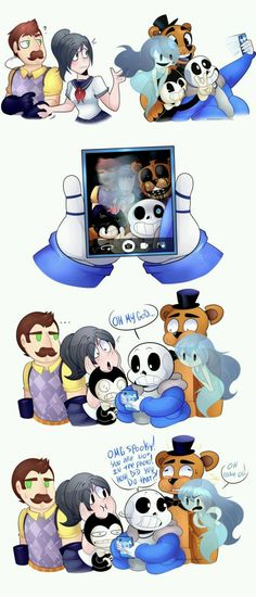 Hello Neighbor, Yandere Simulator, Spooky's House of Jumpscares, Bendy and the Ink Machine, Five Nights at Freddy's and Undertale.