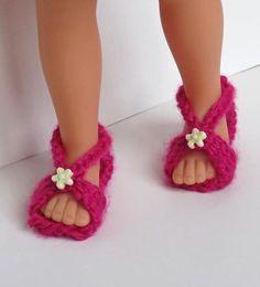"""Tuto sandales """"cerise"""" pour poupée chéries de corolle"""