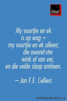 """""""Eensaamheid"""" deur  Jan F.E. Celliers #afrikaans #gedigte #nederlands #segoed #dutch #suidafrika"""