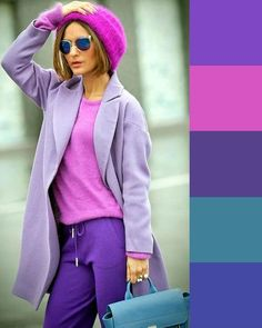 Colour Combinations Fashion, Color Combinations For Clothes, Color Blocking Outfits, Fashion Colours, Colorful Fashion, Purple Outfits, Colourful Outfits, Casual Outfits, Urban Fashion