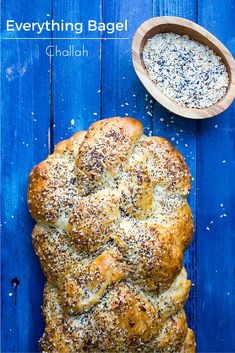 Everything Bagel Challah - What Jew Wanna Eat Bread Machine Recipes, Bread Recipes, Muffin Recipes, Kosher Recipes, Cooking Recipes, Oven Recipes, Yummy Recipes, Recipies, Dinner Recipes