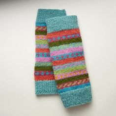 A pair of our knit wool leg warmers will add a dash of cheery warmth to any outfit.