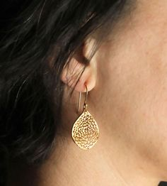 Petal Gold Earrings by Sunday Girl by Amy Dilamarra on Scoutmob
