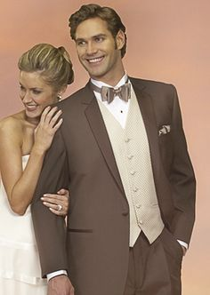 Brown Tuxedos Weddings Styles | Tuxedo Junction of Las Vegas, formal wear and tuxedo rentals in Las ...