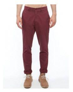 Mr Simple - Parkes Slim Chinos - Pants (Burgundy)