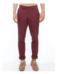 Mr Simple - Parkes Slim Chinos - Pants (Burgundy)