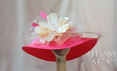 Pink Hat With Tulle And Flower