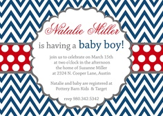 Natalie- Baby Shower Invitation for a boy - PRINTABLE INVITATION DESIGN. $15.00, via Etsy.