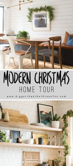 Modern Christmas Home Tour : Come on over and see how you can decorate for Christmas in an understated by lovely way. #Christmasdecor #holiday