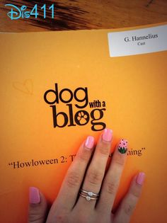 """Photo: G Hannelius With Her """"Dog With A Blog"""" Script April 21, 2014"""