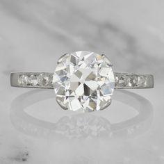 Art Deco Old European Cut Diamond Engagement Ring Buying An Engagement Ring, Classic Engagement Rings, Antique Engagement Rings, Diamond Wedding Rings, Diamond Rings, Diamond Engagement Rings, Diamond Cuts, European Cut Diamonds, Persephone