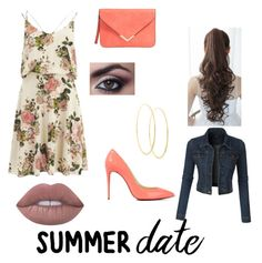 """Summer Date: Rooftop Bar"" by kmccusker16 on Polyvore featuring VILA, Christian Louboutin, Pin Show, Lime Crime, LE3NO and Lana"