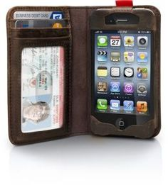 BookBook Case for iPhone 4/4S - Vintage Brown by Twelve South | 851522002443 | Barnes & Noble
