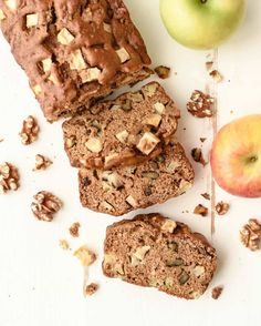 A fast, healthy apple bread loaded with cinnamon and fresh apples. So easy, you don't even need a mixer, and your house will smell like heaven as it bakes!