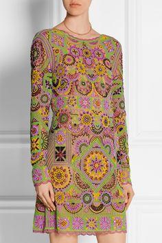 Emilio Pucci|Embellished tulle mini dress|NET-A-PORTER.COM