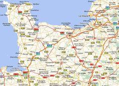 Carte région basse-normandie