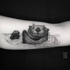 Sea otter tattoo for Kristen. Tattoo Artist: Dino Nemec