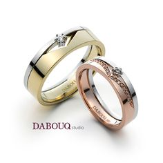 Dabouq Studio Couple Ring - DR0003 - Simple+
