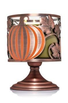 Pumpkin Pedestal 3-Wick Candle Sleeve - Home Fragrance 1037181 - Bath & Body Works