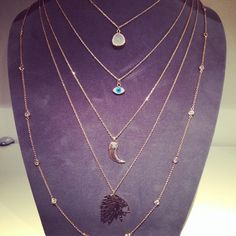 necklaces and others at liza korn's shop in paris