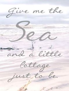 She never wanted this life of a Sea Captain's wife. Young and in love he whispered in her ear I will give you a little Cottage by the Sea just to Be.but his love of the Sea took him away from her. Cottages By The Sea, Beach Cottages, Coastal Cottage, Coastal Decor, Cottage Living, Coastal Homes, Coastal Style, Living Room, Coastal Living