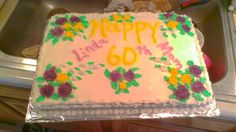 Happy 60 th birthday cake