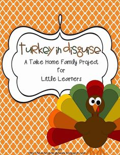 $4 take home project for families to do, following :Turkey Trouble: