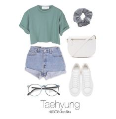 Concert with Taehyung is part of Outfits - A fashion look from February 2016 by btsoutfits featuring Levi's, Alexander McQueen, Forever 21 and Topshop Teenage Girl Outfits, Cute Comfy Outfits, Cute Casual Outfits, Cute Summer Outfits, Outfits For Teens, Korean Outfits Cute, Hipster School Outfits, Korean Summer Outfits, Teenage Clothing