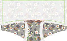 Materialien:  * Jersey (Sekura Grey, Lillestof ) (50 cm x 70 cm)  * Elastisches Einfassband (2,5 cm x 80 cm)   Anleitu...